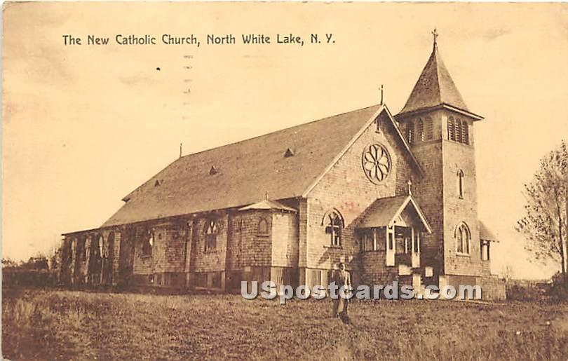 The New Catholic Church - White Lake, New York NY Postcard
