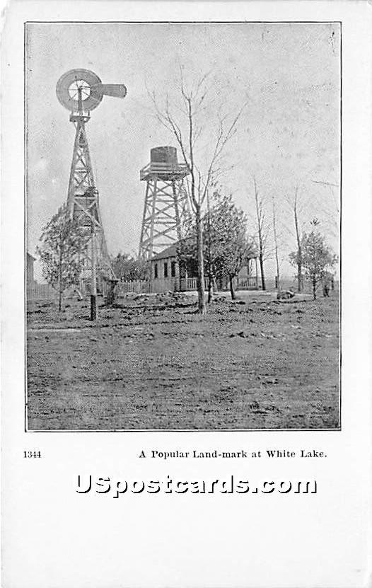 A Popular Land Mark - White Lake, New York NY Postcard