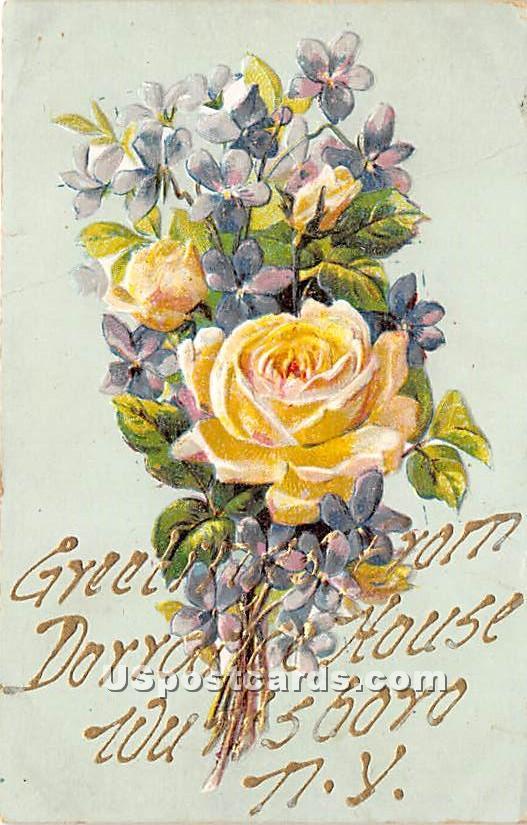 Greetings from Dorrance House - Wurtsboro, New York NY Postcard