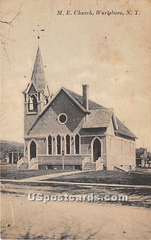 ME Church - Wurtsboro, New York NY Postcard
