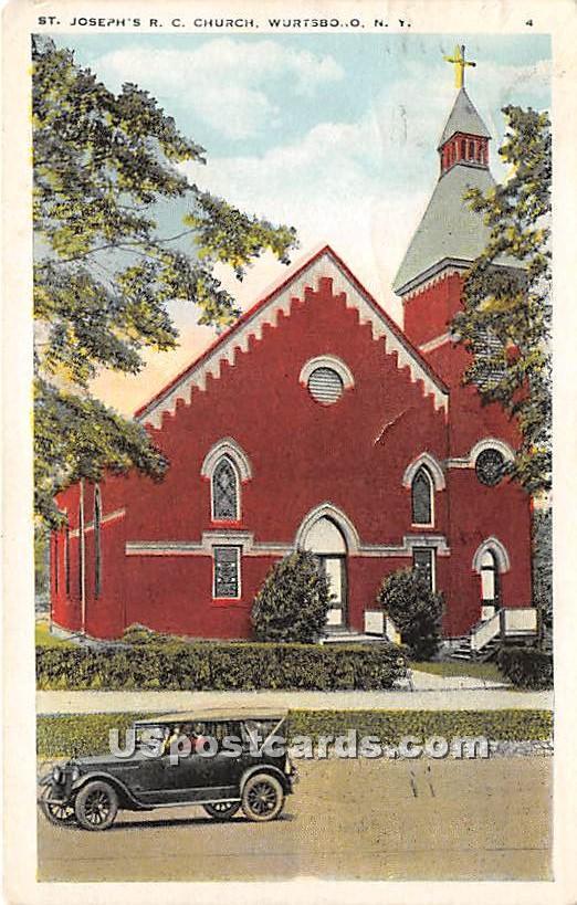 St Joseph's RC Church - Wurtsboro, New York NY Postcard