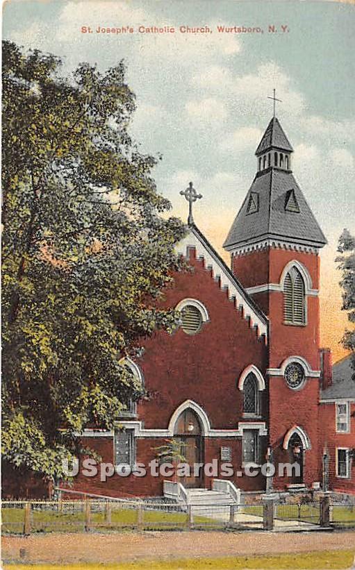 St Joseph's Catholic Church - Wurtsboro, New York NY Postcard