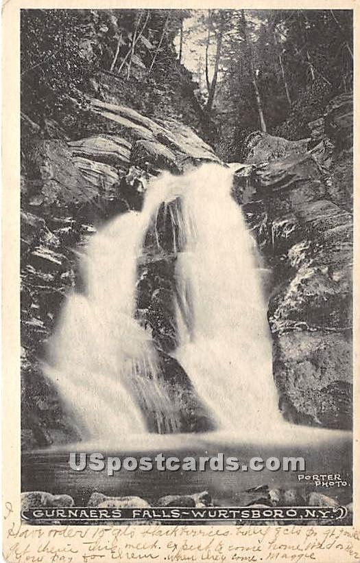 Gurnaers Falls - Wurtsboro, New York NY Postcard