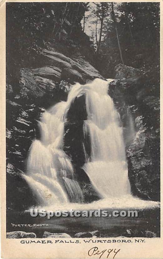 Gumaer Falls - Wurtsboro, New York NY Postcard
