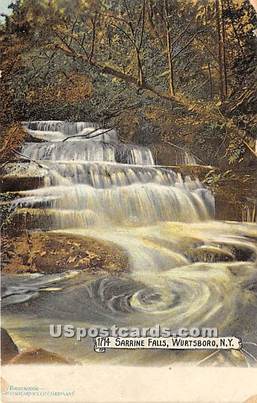 The Sarrine Falls - Wurtsboro, New York NY Postcard