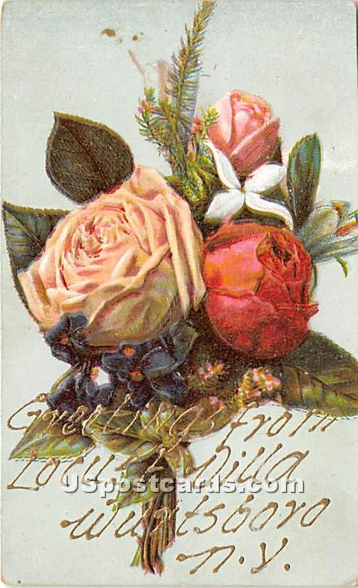 Greetings from Locust Villa - Wurtsboro, New York NY Postcard