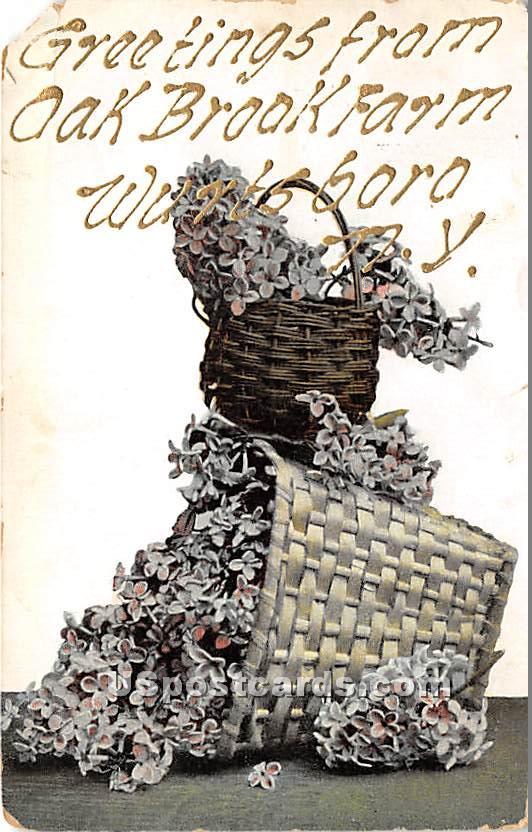 Greetings from Oak Brook Farm - Wurtsboro, New York NY Postcard