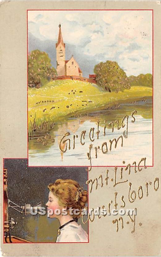 Greetings from Mt Lina - Wurtsboro, New York NY Postcard