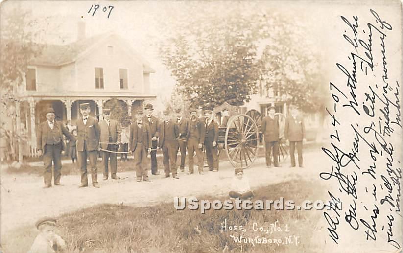 Hose Co No 1 - Wurtsboro, New York NY Postcard