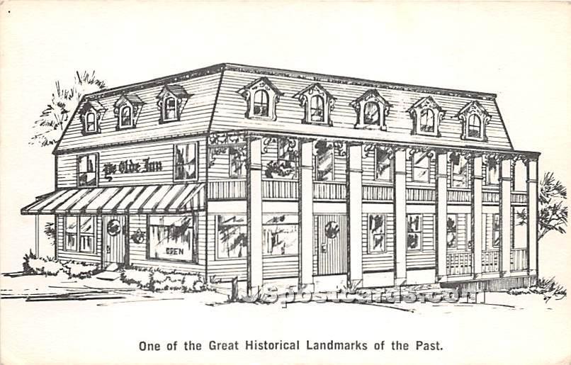 Oye Olde Inn - Wurtsboro, New York NY Postcard
