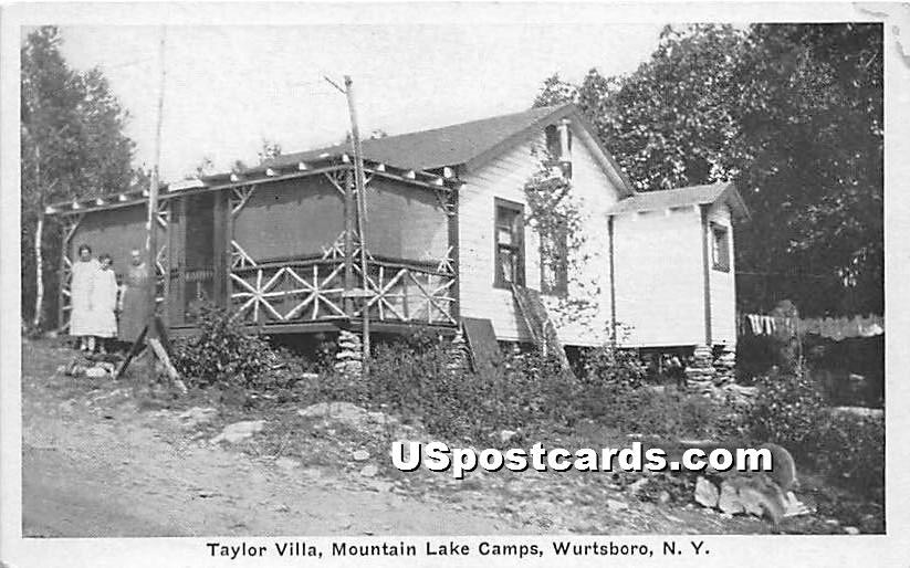 Taylor Villa - Wurtsboro, New York NY Postcard