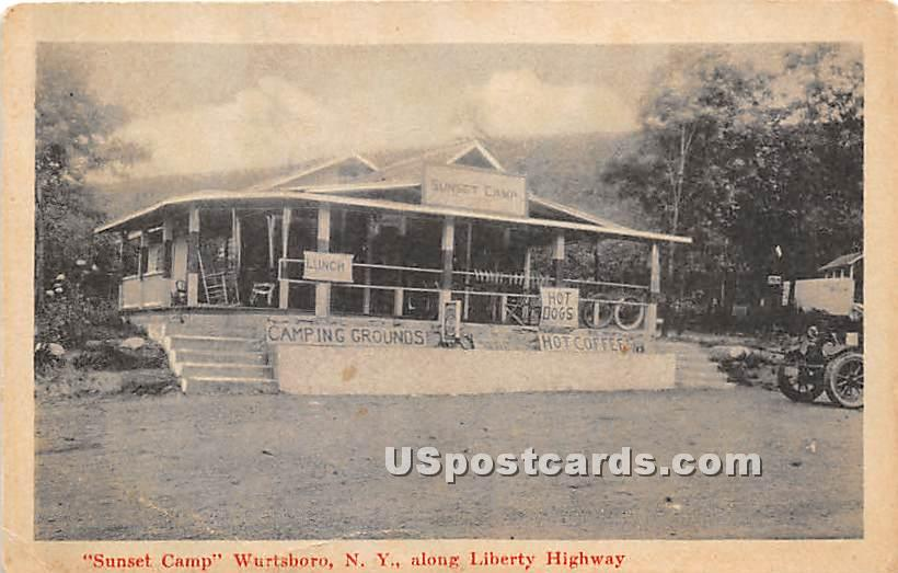 Sunset Camp - Wurtsboro, New York NY Postcard