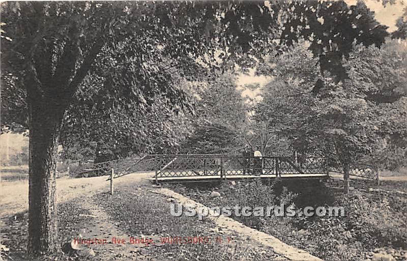 Kingston Ave Bridge - Wurtsboro, New York NY Postcard
