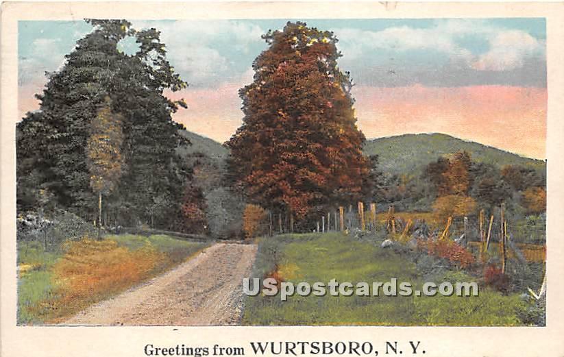 Greetings from - Wurtsboro, New York NY Postcard