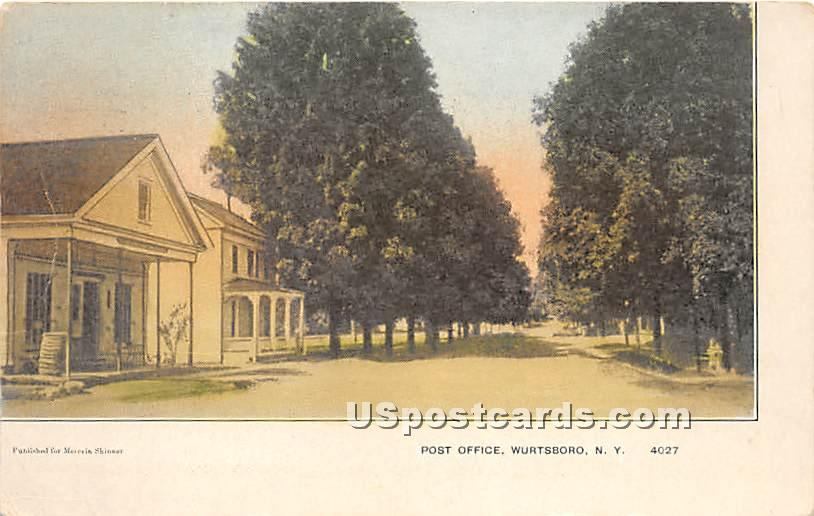 Post Office - Wurtsboro, New York NY Postcard