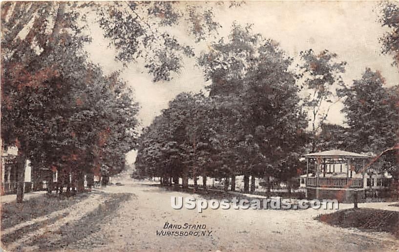 Band Stand - Wurtsboro, New York NY Postcard