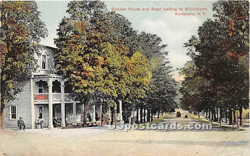 Gumaer House - Wurtsboro, New York NY Postcard