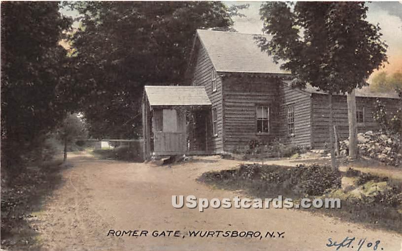 Romer Gate - Wurtsboro, New York NY Postcard