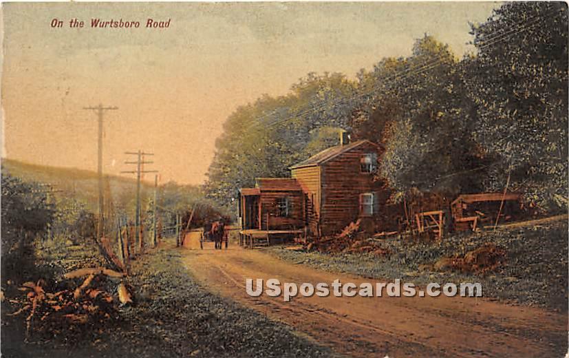 On the Wurtsboro Road - New York NY Postcard