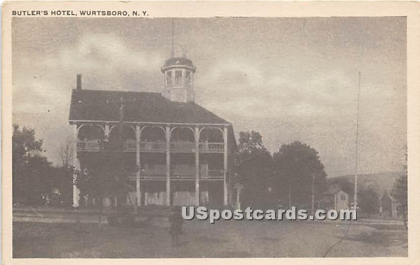 Butler's Hotel - Wurtsboro, New York NY Postcard