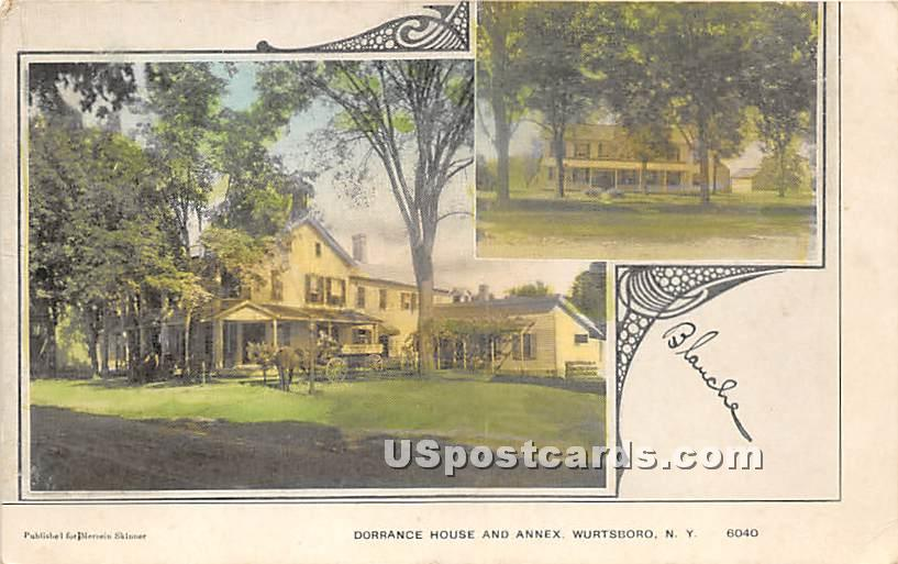 Dorrance House & Annex - Wurtsboro, New York NY Postcard
