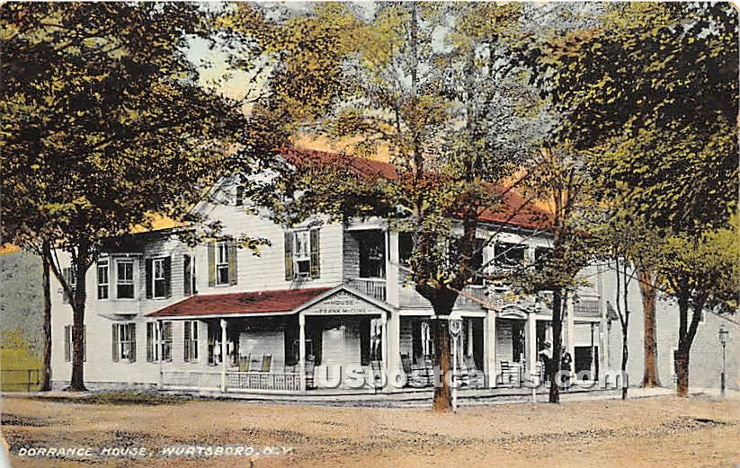 Dorrance House - Wurtsboro, New York NY Postcard
