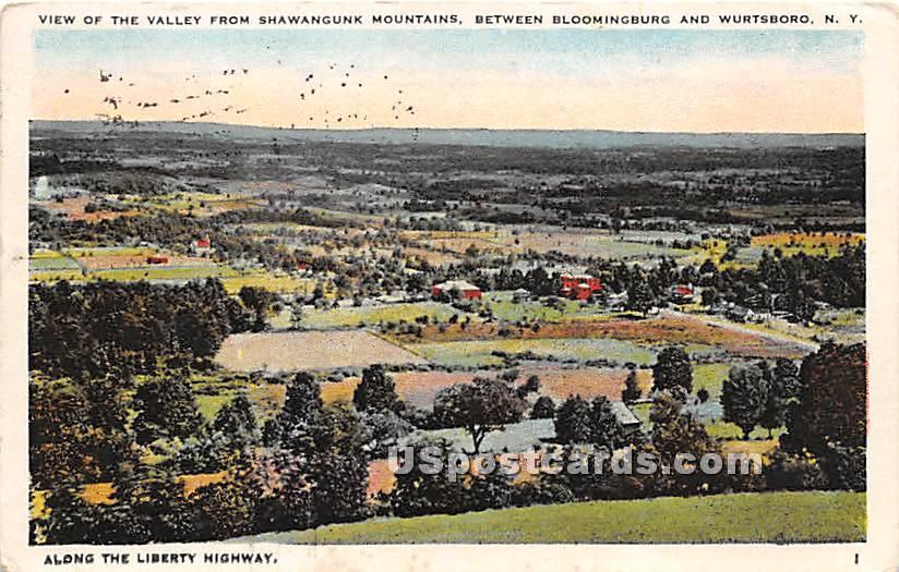 Along the Liberty Highway - Wurtsboro, New York NY Postcard