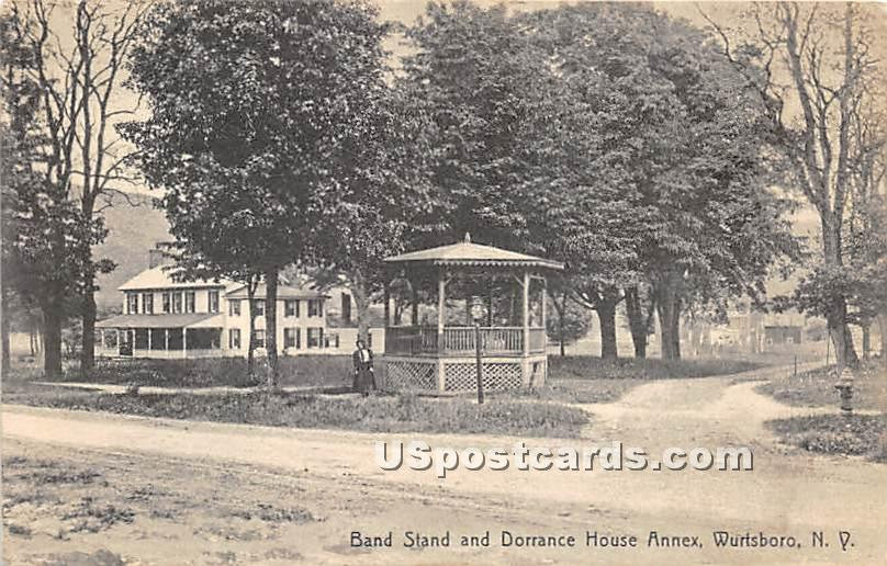 Band Stand & Dorrance House Annex - Wurtsboro, New York NY Postcard