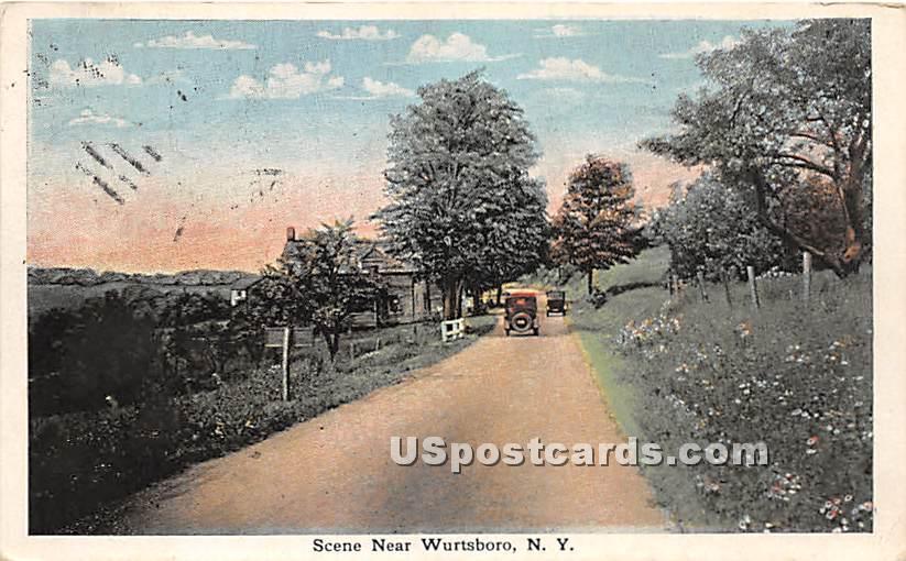 Street Scene - Wurtsboro, New York NY Postcard