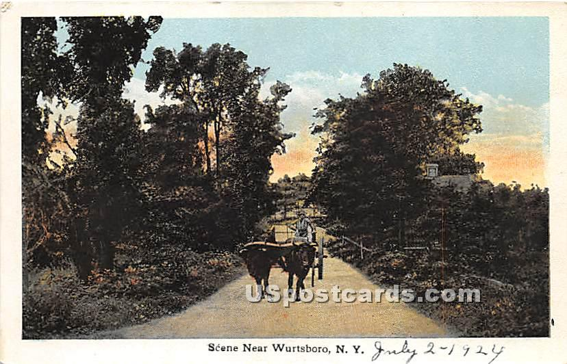 Bulls & Carriage - Wurtsboro, New York NY Postcard