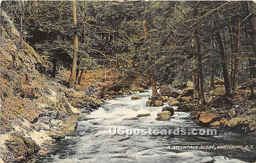 A Mountain Scene - Wurtsboro, New York NY Postcard