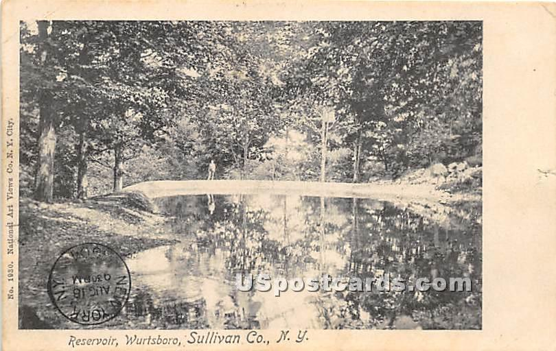 Reservoir - Wurtsboro, New York NY Postcard