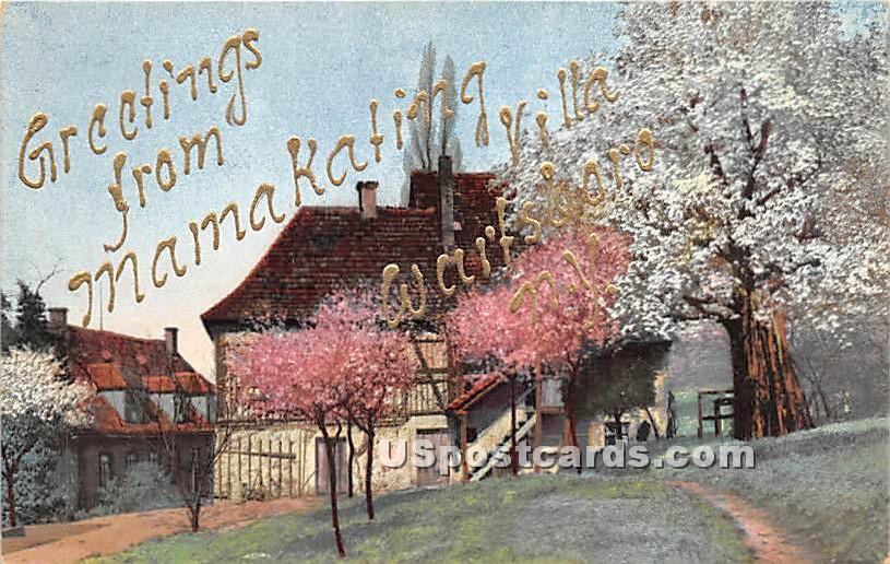 Greetings from Mamakatina Villa - Wurtsboro, New York NY Postcard