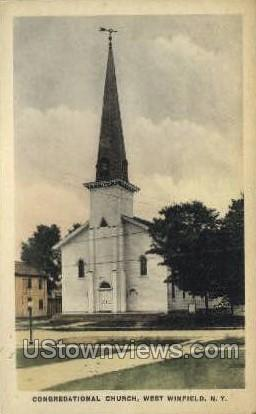Congregational Church - West Winfield, New York NY Postcard