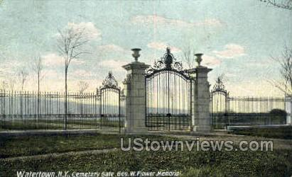 Geo. W. Flower Memorial - Watertown, New York NY Postcard