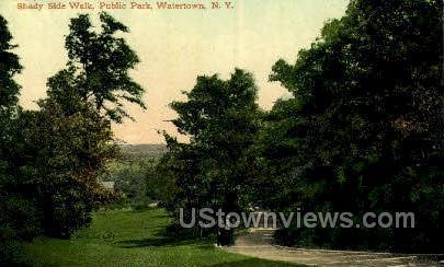 Public Park - Watertown, New York NY Postcard