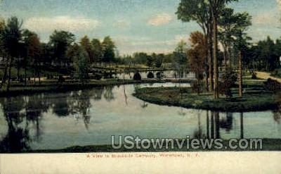 Brookside Cemetery - Watertown, New York NY Postcard