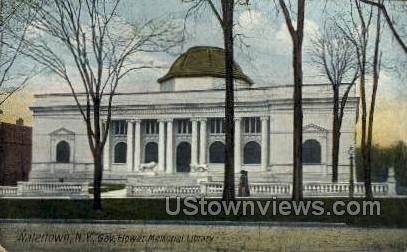 Gov. Flower Memorial Library - Watertown, New York NY Postcard