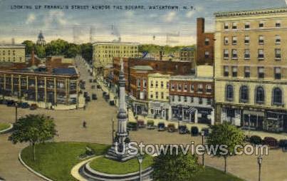 Franklin Street - Watertown, New York NY Postcard