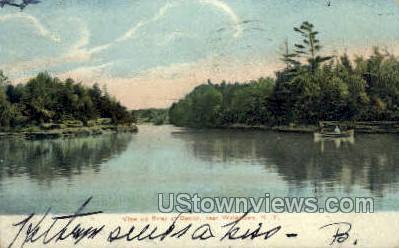 River at Dexter - Watertown, New York NY Postcard