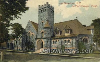 St. Paul's Episcopal Church - Watertown, New York NY Postcard