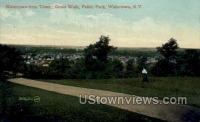 Grove Walk, Public Park - Watertown, New York NY Postcard