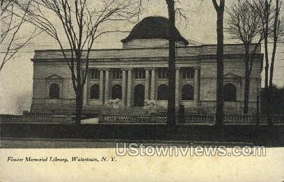 Flower Memorial Library - Watertown, New York NY Postcard
