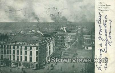 Mill Street - Watertown, New York NY Postcard