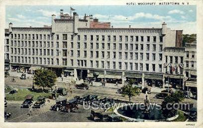 Hotel Woodruff - Watertown, New York NY Postcard