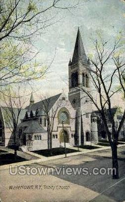 Trinity Church - Watertown, New York NY Postcard