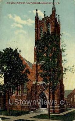All Souls Church - Watertown, New York NY Postcard