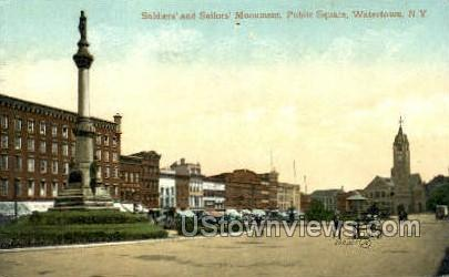 Soliders' & Sailors' Monument - Watertown, New York NY Postcard