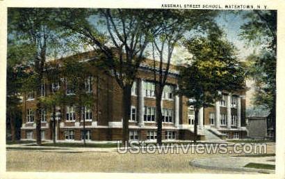 Arsenal Street School - Watertown, New York NY Postcard