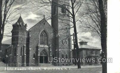 Holy Family Church - Watertown, New York NY Postcard